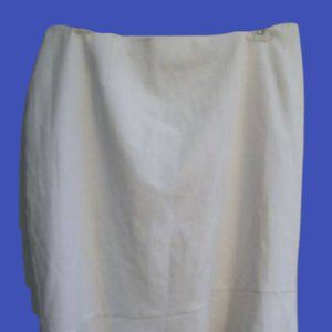 Claire France White Skirt Size 22